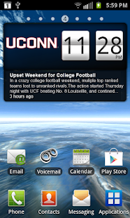 UCONN Huskies Live Clock - screenshot