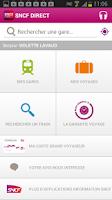 Screenshot of SNCF DIRECT