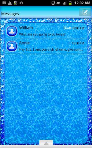 GO SMS - Blueberry Glitter
