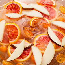Spiced Pear-Champagne Punch