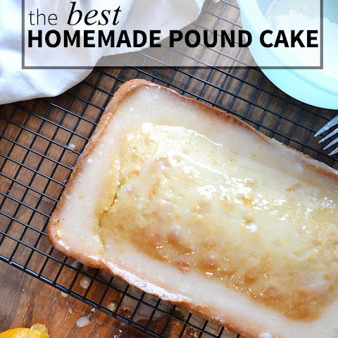 the BEST homemade Pound Cake