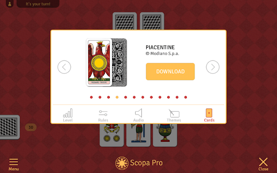Scopa Pro APK screenshot thumbnail 10