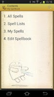 Screenshot of Spellbook - D&D 3.5
