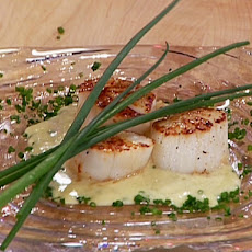 Seared Jumbo Scallops with a Champagne-Vanilla Butter Sauce