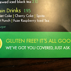 They post it all over the restaurant, that it's no problem if you're gluten-free. And they alert the