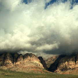 Red Rock Canyon #4 by Daniel Hackett - Landscapes Cloud Formations ( clouds, wilderness, desert, red, nature, nevada, cloud, canyon, rock, landscape, vegas, las,  )
