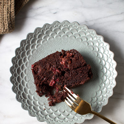 CHOCOLATE RASPBERRY LOAF CAKE