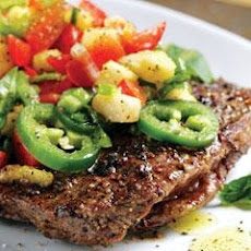 Flank Steak With Pineapple Salsa