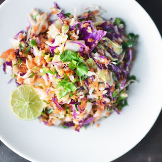 Tri-Color Slaw with Lime Dressing