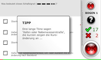 Screenshot of SBF-Binnen