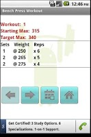 Screenshot of Bench Press Workout