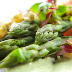 Asparagus With Fettle, Walnut And Pecan Crumb