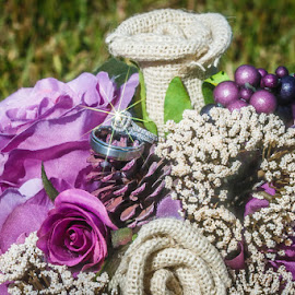 Sparkle & Shine by Shelley Patterson - Wedding Details ( bouquet, wedding, rings, flowers, bride, groom )