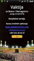 Screenshot of Vaktija Prayer Times