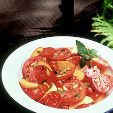 Minted Peach and Tomato Salad