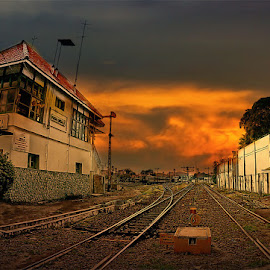 by Daniel Chang - Transportation Railway Tracks