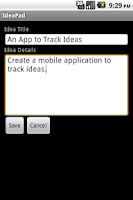 Screenshot of IdeaPad: Idea Notepad