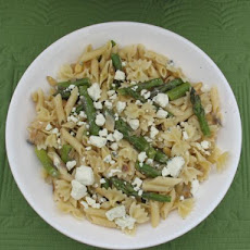 Farfalle With Asparagus, Red Onion, Walnuts &  Blue Cheese