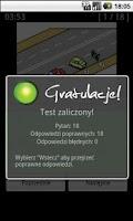 Screenshot of Testy na Prawo Jazdy kat. A