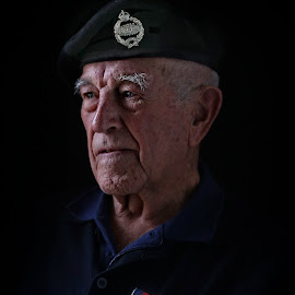 D-Day Survivor by Glynn Lavender - People Portraits of Men ( portraiture, face, portraits, man, portrait )