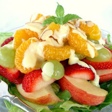 Fruit Salad with Sweet Orange Cream