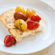 Baked Ricotta with Maple-Roasted Tomatoes