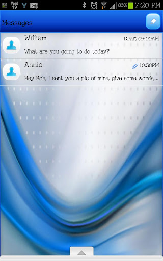 【免費個人化App】GO SMS - Clean Abstract Blue-APP點子