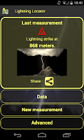 Screenshot of Lightning Locator