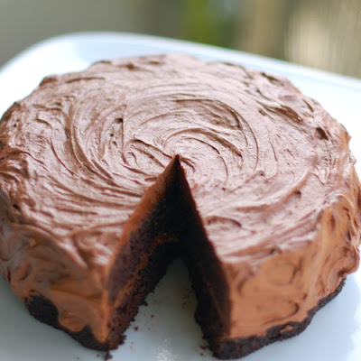 Double Chocolate Cake with Buttercream Frosting