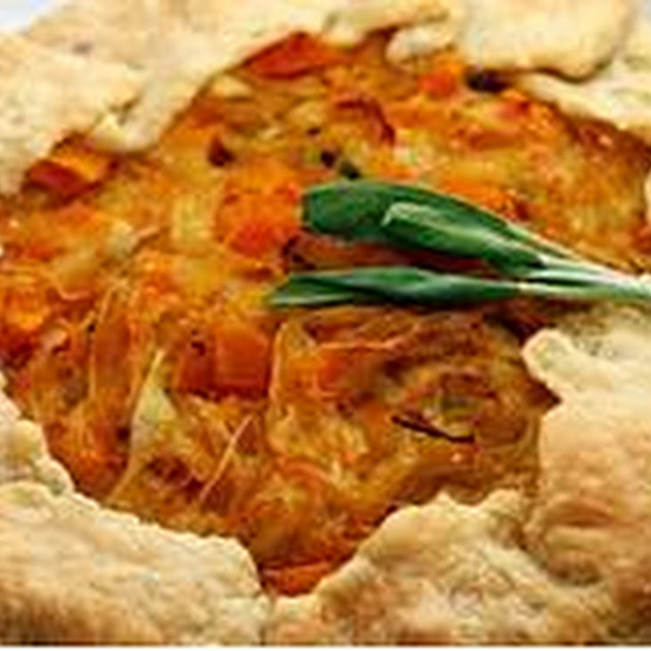 Butternut Squash and Caramelized Onion Galette Recipe | Yummly