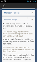 Screenshot of Hungarian English Translator