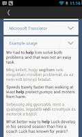 Screenshot of Hungarian English Translator
