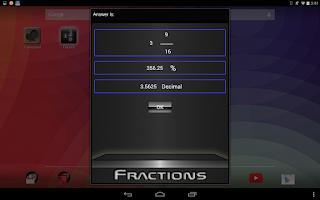 Screenshot of Fractions