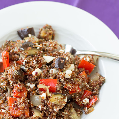 Roasted Vegetable Quinoa Salad with Balsamic Vinaigrette