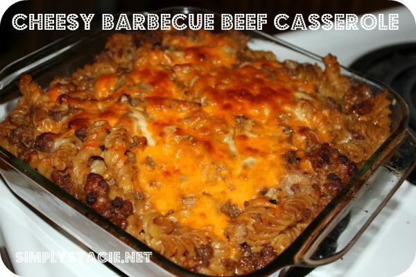 Cheesy Barbecue Beef Casserole Recipe | Yummly