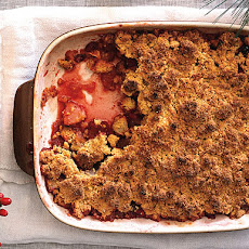 Apple-Cranberry Crisp with Polenta Streusel Topping