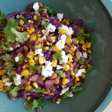Warm Red Cabbage and Corn Salad