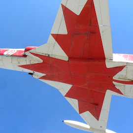 Kamloops Airport BC Canada by Davey Dunbar - Transportation Airplanes ( airforce, pilots, kamloops, monument, fighter )