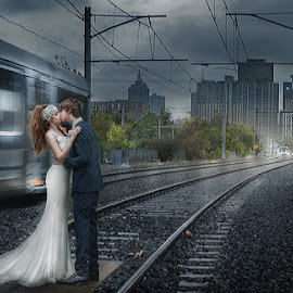 Kissing by Voon Kiun Fui - Wedding Bride & Groom ( wedding )