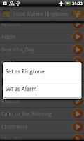 Screenshot of Loud Alarms Sounds Ringtones