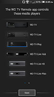 Screenshot of WD TV Remote
