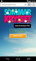 Screenshot of Sommarkrysset