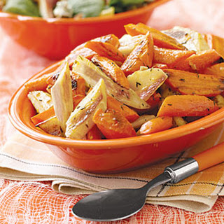 Oven-Roasted Parsnips and Carrots