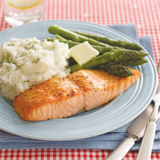 Roasted Salmon with Dill Mashed Potatoes