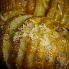 Microwave Sliced Baked Potatoes