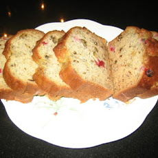 Banana Cranberry Walnut Loaf