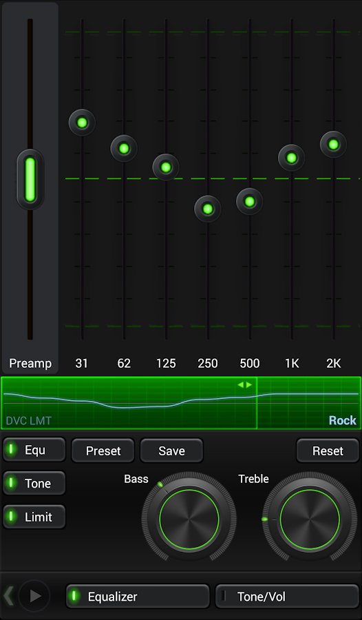 Mad Jelly Green Poweramp Skin Screenshot 1