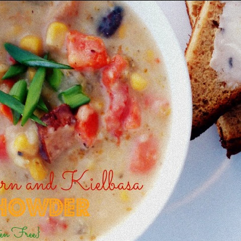 Corn and Kielbasa Chowder {Gluten Free}