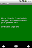 Screenshot of Liebe Zitate