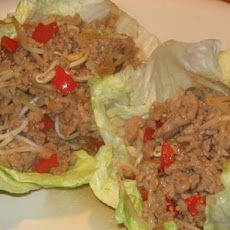 Oriental Minced Pork in Lettuce Leaves